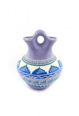 Navajo White Clay Pottery - 10 cm x 12.5 cm