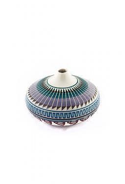 Navajo White Clay Pottery - 8 cm x 11 cm