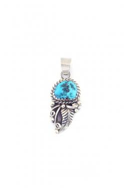 Anhänger Türkis klassische Navajo Silberverzieru..