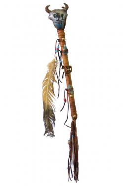 Büffelrassel bemalt und dekoriert Navajo