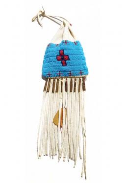 Lakota Medizinbeutel Perlenbestickt J. Left Hand..