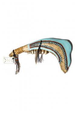 Büffelkiefer Tomahawk / Skull breaker Cheyenne