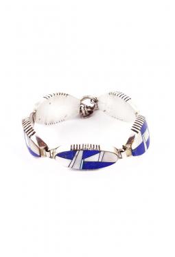 Link Bracelet Lapis Lazuli Perlmutter Alvin Yell..