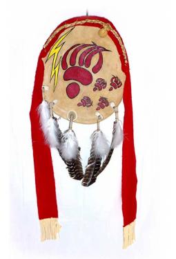 Lakota Bear Shield - Bären Schild rot Martin Long Soldier Lakota