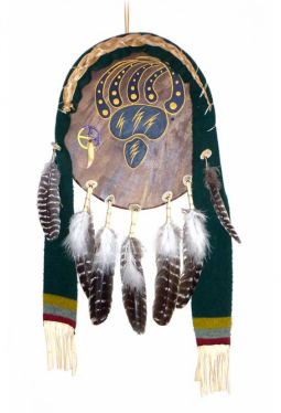 Lakota Bear Shield - Bären Schild grün Martin Long Soldier Lakota