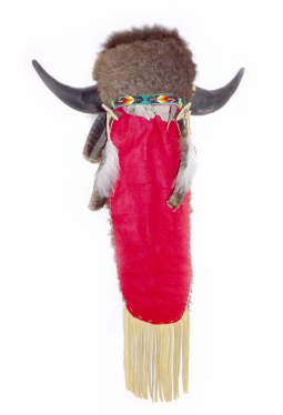 Büffel Schamanenhaube / Tanzhaube Lakota Martin Long Soldier