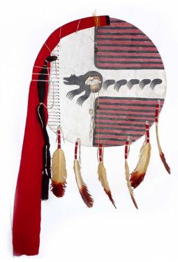 Lakota made Bear Society Shild - Kiowa Schild des Bärenclans