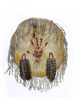 Lakota Hand Shield - Schutzschild Hand von Evans Flammond, Lakota