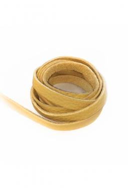 Leder Bändel goldgelb - ca. 2 Meter lang